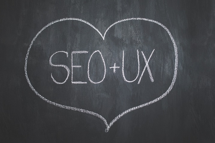 SEO and UX with love sign